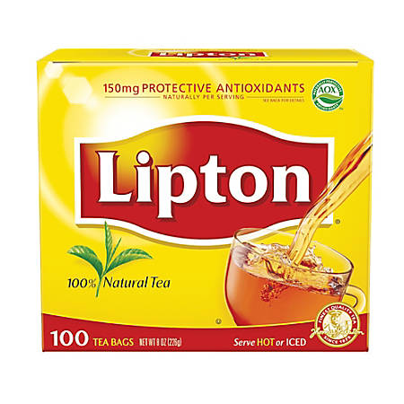Lipton® Tea Bags, Box Of 100