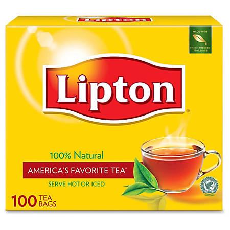 Lipton Tea Bags Box Of 100 - Office Depot
