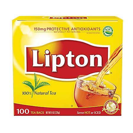Lipton® Tea Bags, Box Of 100