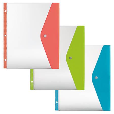 Office Depot® Brand Side-Load Binder Pocket, Letter Size, Assorted Colors