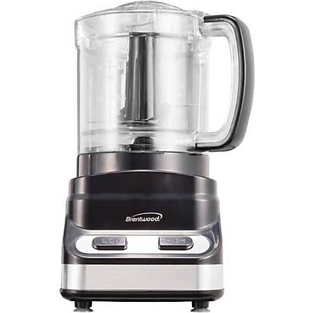 Brentwood 3 Cup Food Processor in Black (FP-547) - 200 W Motor - Black