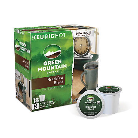 Green Mountain Coffee® Breakfast Blend Coffee K-Cup® Pods, 0.31 Oz, Box Of 18 Pods