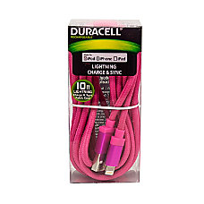 Duracell Fabric Lightning Cable 10 Pink