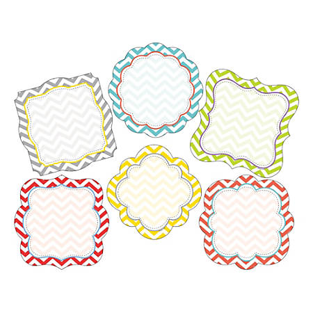 Barker Creek Accents, Double-Sided, Chevron Beautiful, Pack Of 72