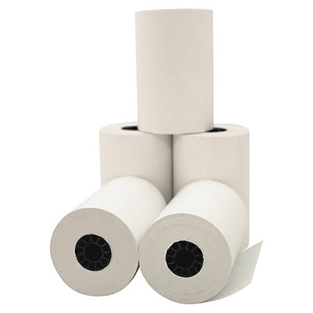"""PM Company® 1-Ply Thermal Print Cash Register/ATM Rolls, 3 1/8"""" x 119', White, Pack Of 50"""