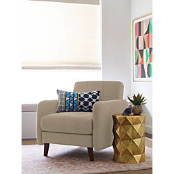 Elle d cor natalie mid century modern arm chair beigechestnut by office depot officemax - Elle decor natale ...