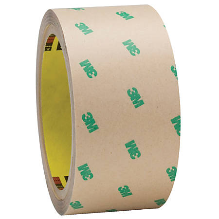 "3M™ F9465PC Adhesive Transfer Tape Hand Rolls, 3"" Core, 2"" x 60 Yd., Clear, Case Of 2"