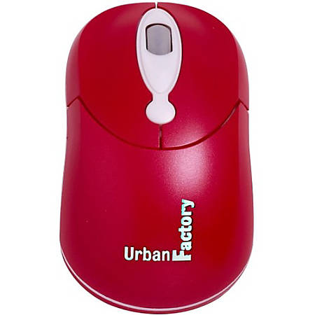 Urban Factory Optical Crazy Mouse, Red