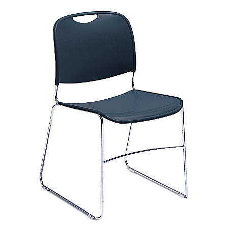 National Public Seating 8500 Ultra-Compact Stack Chair, Blue/Chrome