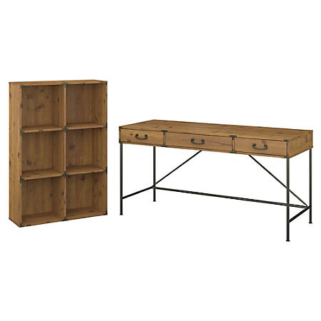 Kathy Ireland Home By Bush Furniture Ironworks 60 W Writing Desk