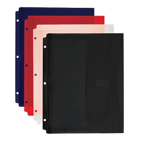 "Office Depot® Brand Expanding Binder Pocket, 8 1/2"" x 11"", Assorted Colors"