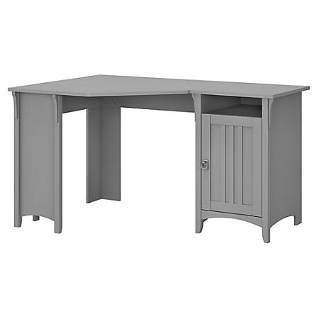 "Bush Furniture Salinas 55""W Corner Desk With Storage, Cape Cod Gray, Standard Delivery"
