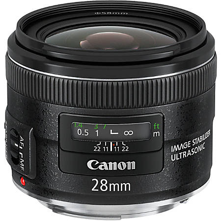 """Canon - 28 mm - f/2.8 - Wide Angle Lens for Canon EF/EF-S - 58 mm Attachment - Optical IS - USM - 2.7""""Diameter"""