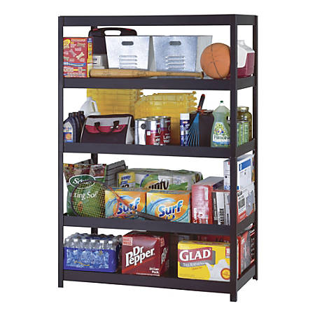 "Edsal Heavy-Duty Steel Shelving, 5 Shelves, 48""W x 24""D, Black"