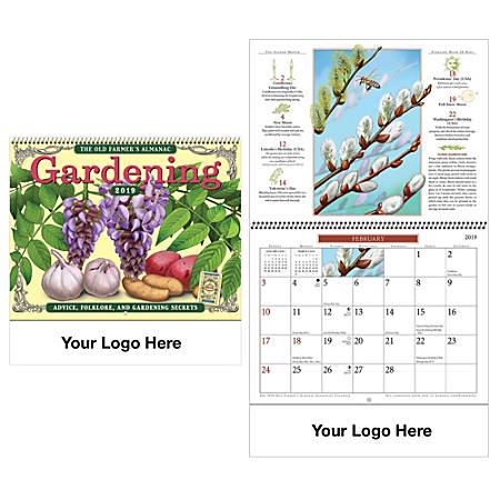 Old farmers almanac vertical gardening wall calendar 18 14 - Farmers almanac gardening calendar ...