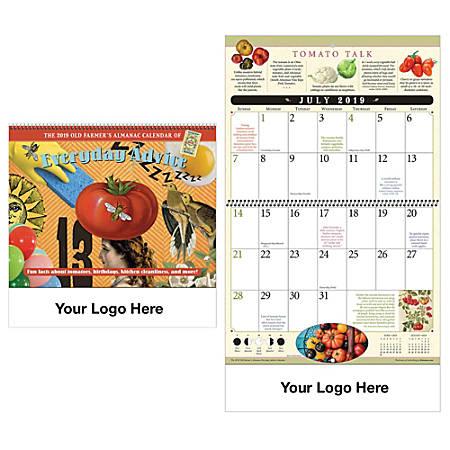 "Old Farmer's Almanac Vertical Home Hints Wall Calendar, 18 1/4"" x 10 1/2"", December–December"