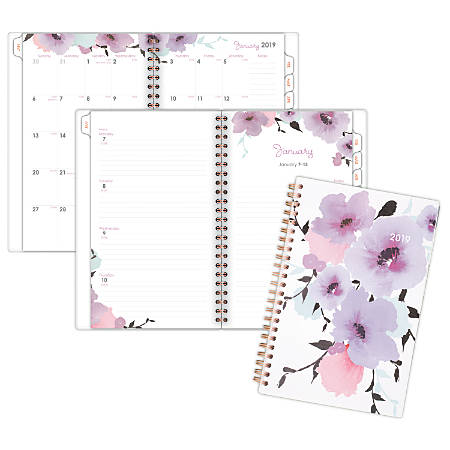 "Cambridge® Weekly/Monthly Planner, 4 7/8"" x 8"", Mina, January 2019 to December 2019"