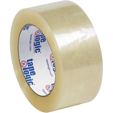 "Tape Logic® Quiet Carton-Sealing Tape, 3"" Core, 3.1-Mil, 2"" x 55 Yd., Clear, Pack Of 6"