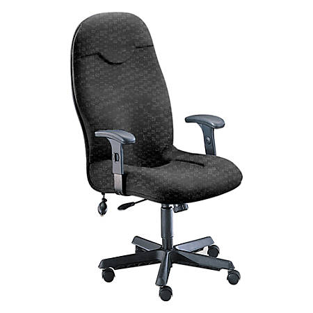 """Mayline® Group Comfort Series 9413 High-Back Fabric Chairs, 47 1/2""""H x 27""""W x 27""""D, Black Frame, Gray Fabric"""