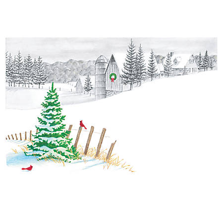 "Custom Full-Color Holiday Cards With Envelopes, 7"" x 5"", Holiday Impression, Box Of 25 Cards"