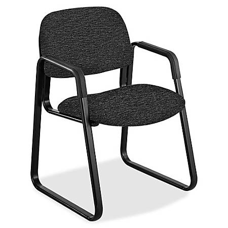 Safco® Cava Urth Fabric Sled-Base Guest Chair, Black