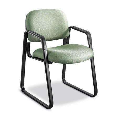 Safco® Cava Urth Fabric Sled-Base Guest Chair, Green