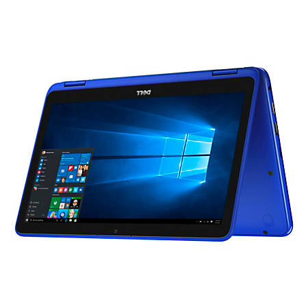 "Dell™ Inspiron 11 3000 2-in-1 Laptop, 11.6"" Touchscreen, Intel® Pentium®, 4GB Memory, 500GB Hard Drive, Windows® 10 Home, Blue"