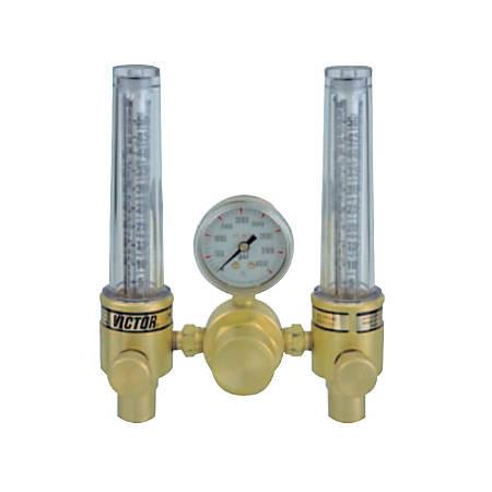 DFM Dual Flowmeter Regulators, Argon; Helium, CGA 580, 3,000 psig inlet