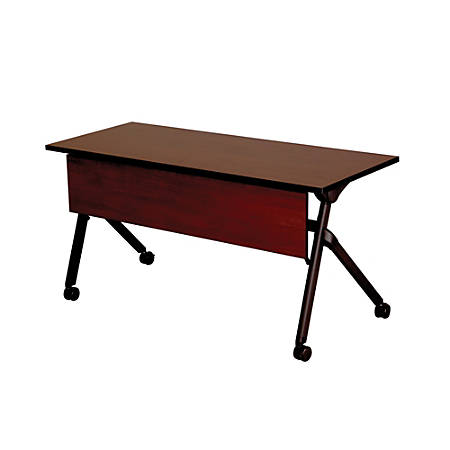 "Safco® Tango™ Nesting Table, Rectangle, 72""H, Persian Cherry/Black"