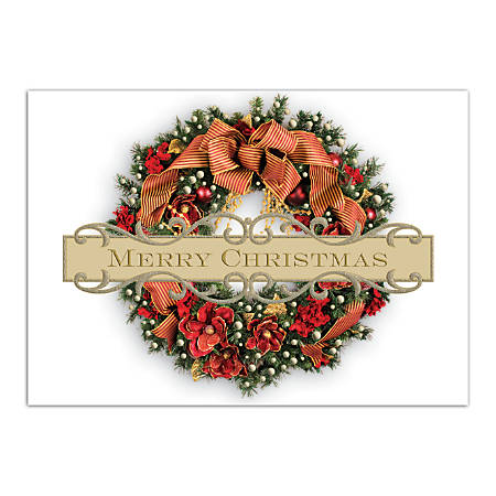 personalized holiday cards fsc certified 7 - Office Depot Christmas Cards