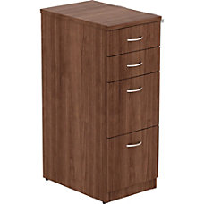 Lorell Walnut Laminate 4 drawer File