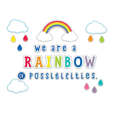 Schoolgirl Style Hello Sunshine We Are A Rainbow Of Possibilities Bulletin Board Set