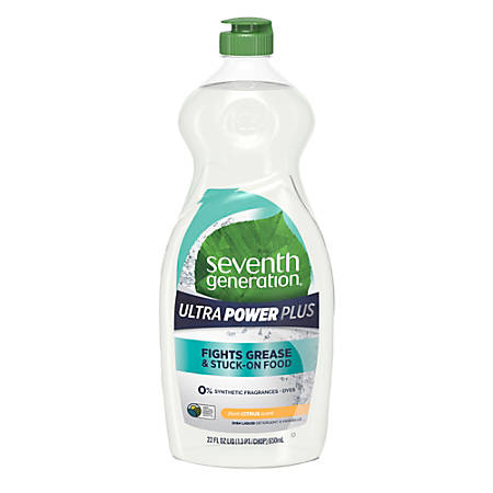 Seventh Generation™ Ultra Power Plus Dish Liquid, Fresh Scent, 22 Oz