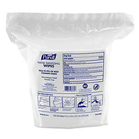 Purell® Hand Sanitizing Wipes, Fresh Scent, Carton of 3,000