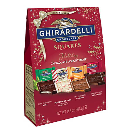 Ghirardelli® Assorted Holiday Chocolate Squares, Pack Of 6