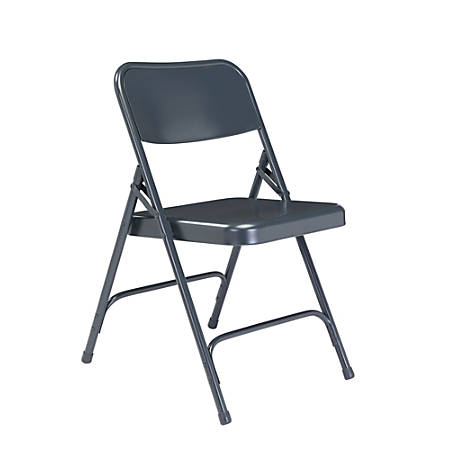National Public Seating Series 200 Folding Chairs, Blue, Set Of 4 Chairs