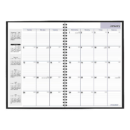 """AT-A-GLANCE® DayMinder® 15-Month Monthly Planner, 8"""" x 12"""", Black, December 2019 to February 2021"""