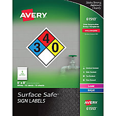 Avery Surface Safe Sign Labels 8