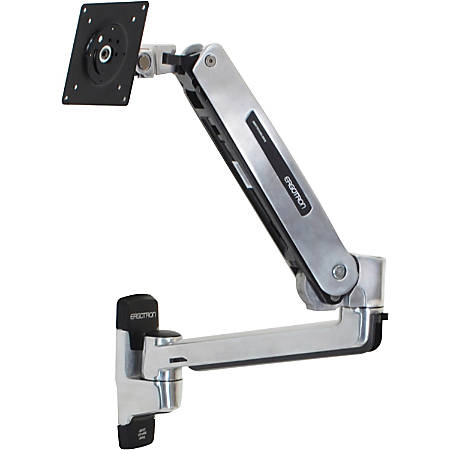 """Ergotron Mounting Arm for Flat Panel Display - Polished Aluminum - 42"""" Screen Support - 25 lb Load Capacity"""