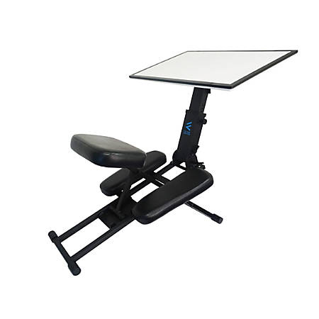 Victor® Edge Ergonomic Adjustable Kneeling Desk, Black/White