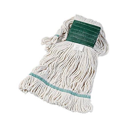Unisan Super Loop Cotton/Synthetic Yarn Wet Mop Head, Medium, White