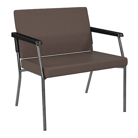 Bariatric Big & Tall Chair, Dillion Fabric With Arms, Java