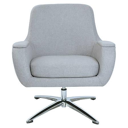 Lorell® Nirvana Lounge Fabric Swivel Chair, Gray