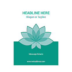Custom Flyers Vertical Teal Spa Flower