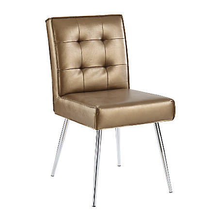Ave Six Amity Tufted Dining Chair, Sizzle Copper/Silver