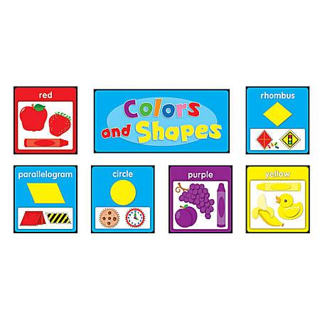 Carson-Dellosa Quick Stick Bulletin Board Set, Colors And Shapes