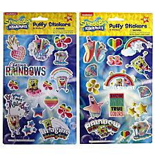 Nickelodeon SpongeBob Puffy Stickers Assorted Designs