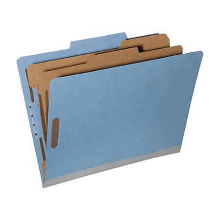 SKILCRAFT® Tyvek® Reinforced Classification Folders, Kraft, 30% Recycled, Box Of 10 (AbilityOne 7530-01-600-6976)