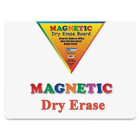 "Flipside Magnetic Dry-Erase Board, 24"" x 36"", White"