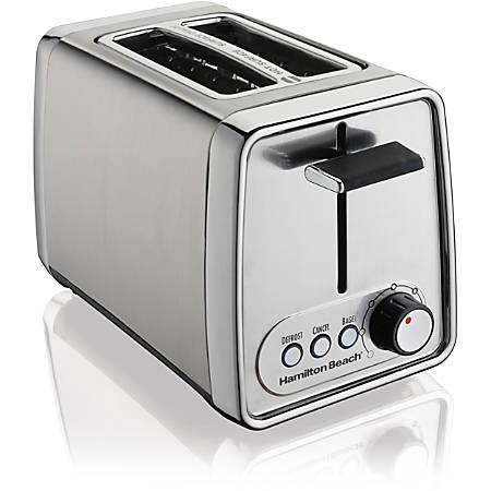 Hamilton Beach Modern Chrome 2 Slice Toaster (22791) - Toast, Bagel - Chrome